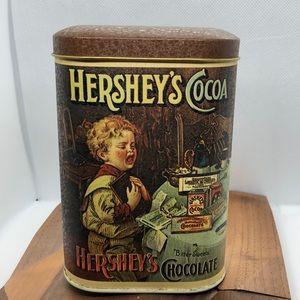 Vntg 1984 Hershey's Cocoa Tin